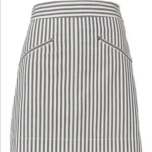 Derek Lam 10 Crosby Striped Skirt